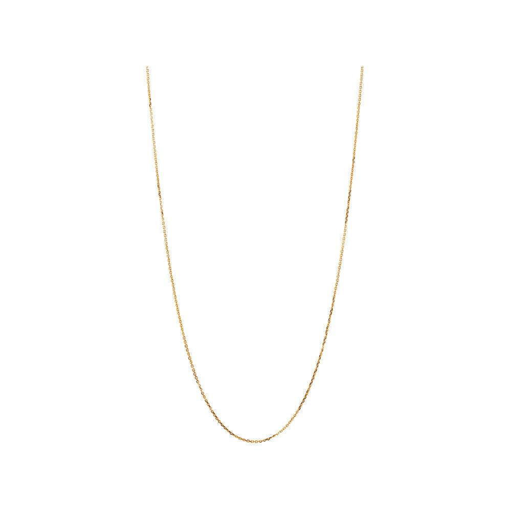 Essentials 18kt Rose Gold 1mm Cable Chain 60cm, , hires