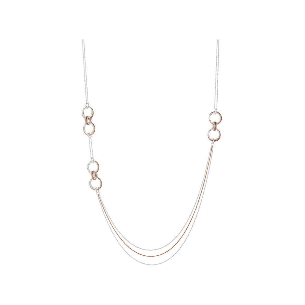 Aurora Bi-Metal Long Necklace, , hires
