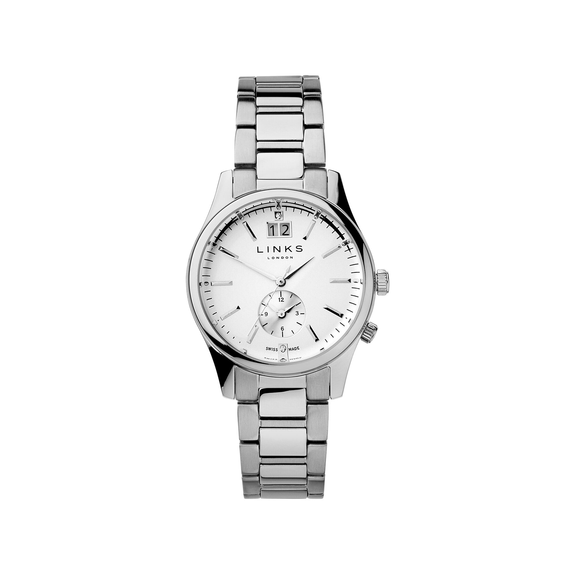 watches armani ceramic watch chronograph white womens emporio buy uk image
