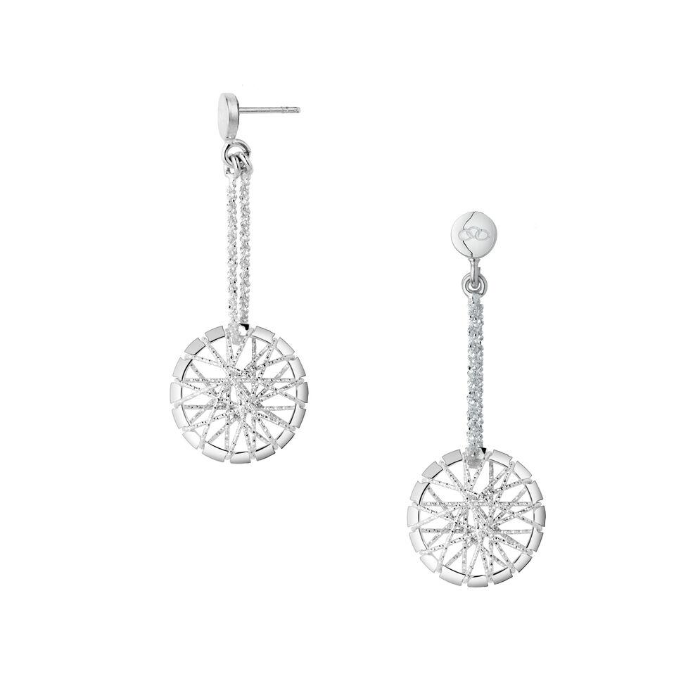 Dream Catcher Sterling Silver Drop Earrings, , hires