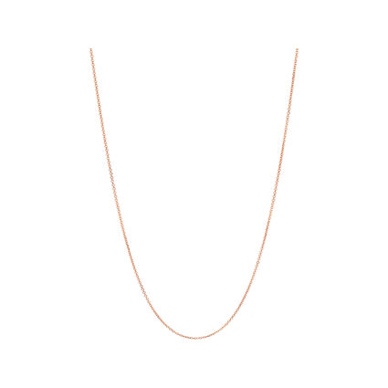 Essentials Rose Gold Vermeil 1.5mm Cable Chain 45cm, , hires