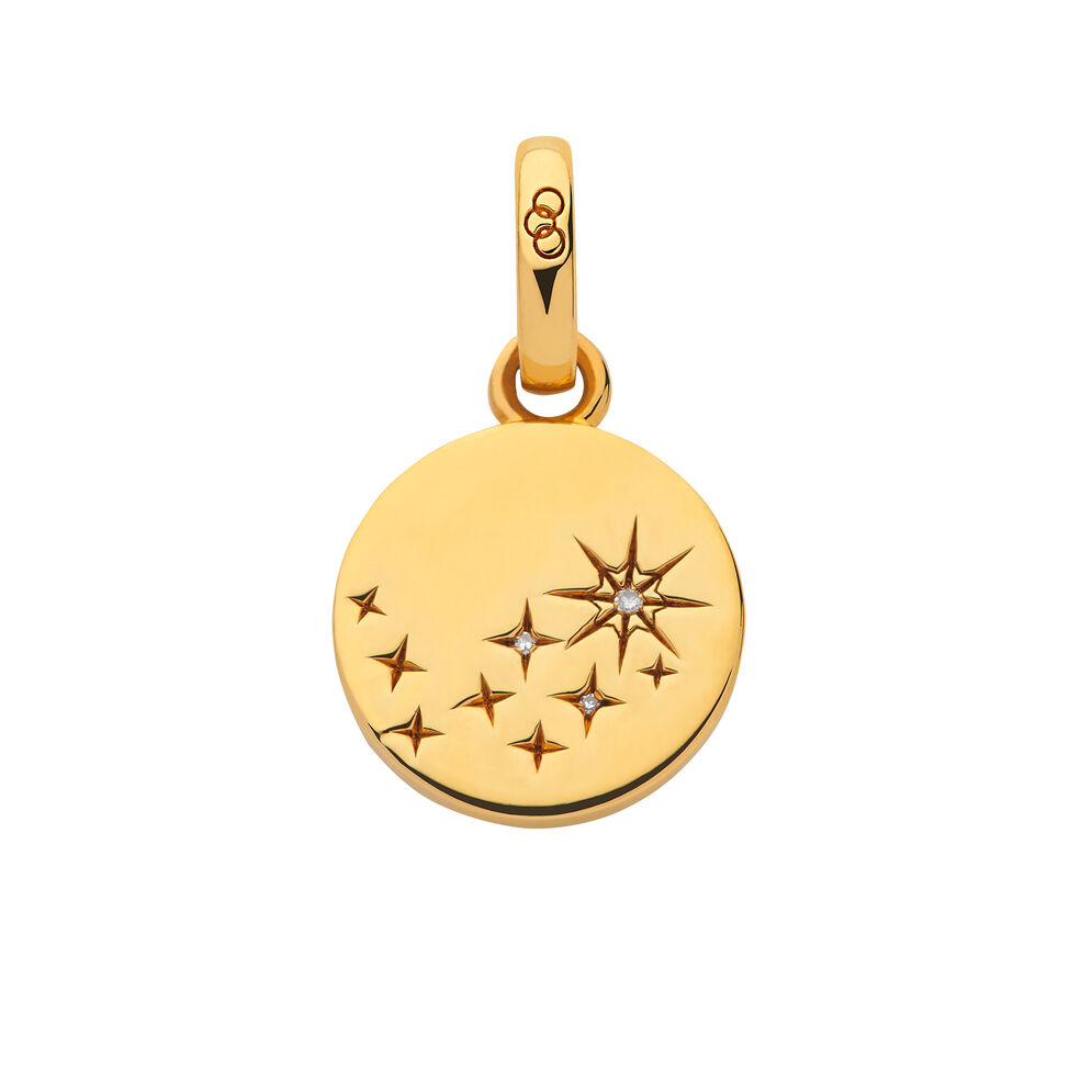 Amulet 18kt Yellow Gold Vermeil & Diamond Destiny Charm, , hires