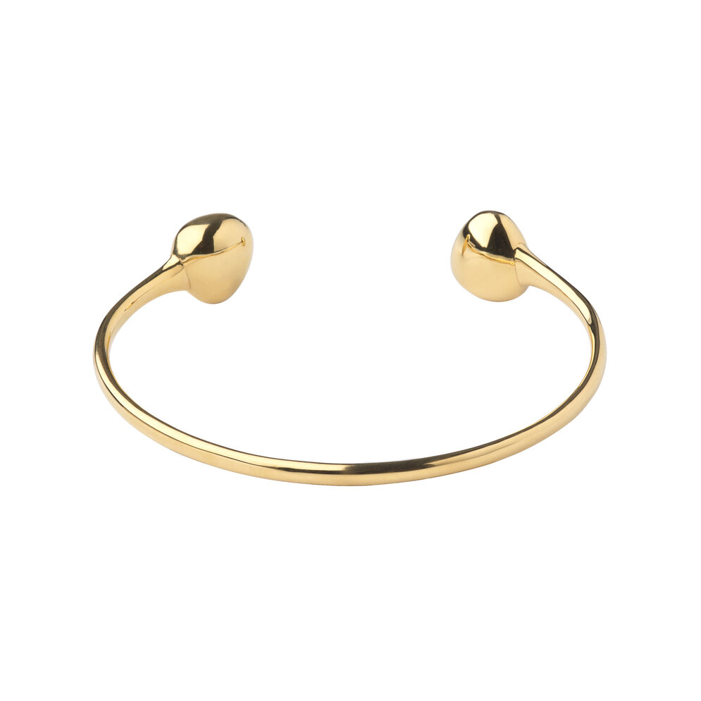 Hope 18kt Yellow Gold Heart Bangle, , hires