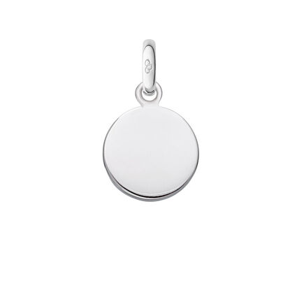 Sterling Silver Disc Charm, , hires