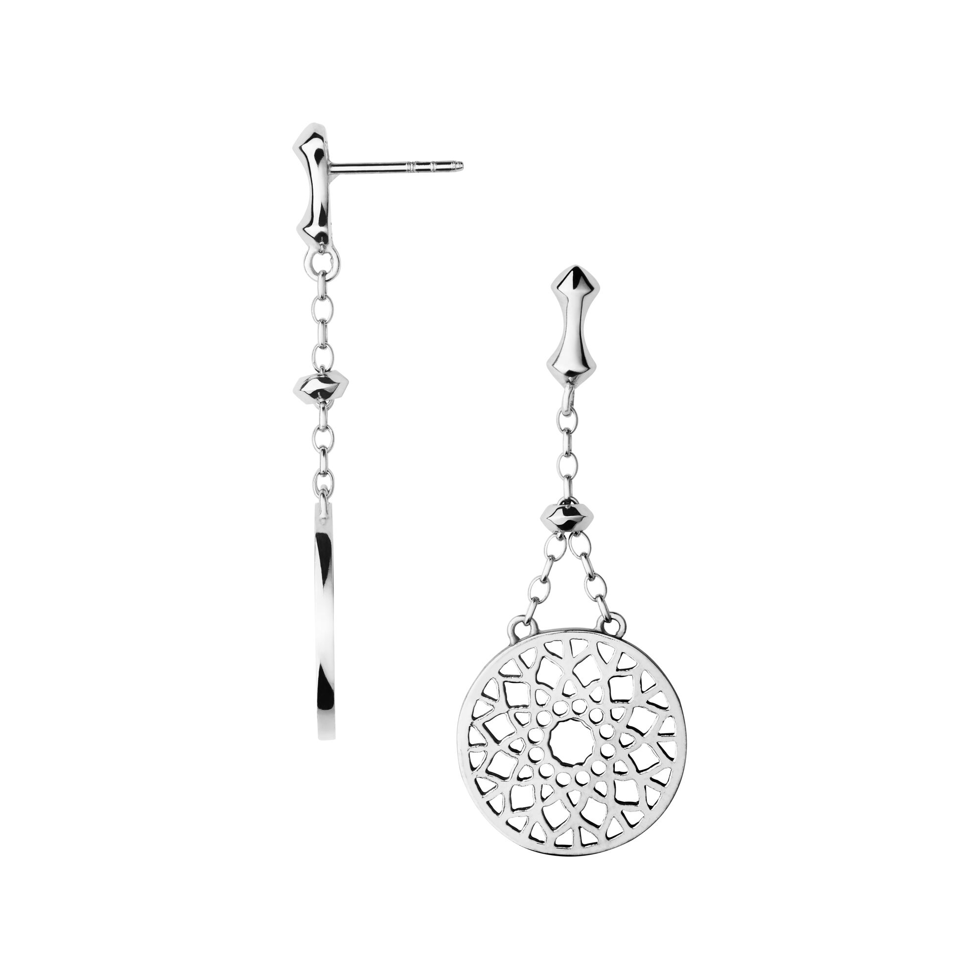 Timeless Sterling Silver Large Drop Earrings Hires