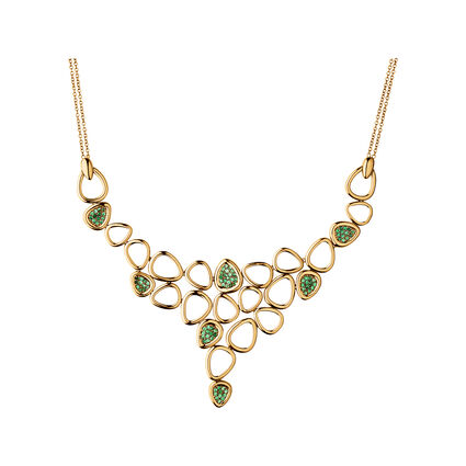 Hope 25 Years 18kt Yellow Gold & Tsavorite Necklace, , hires