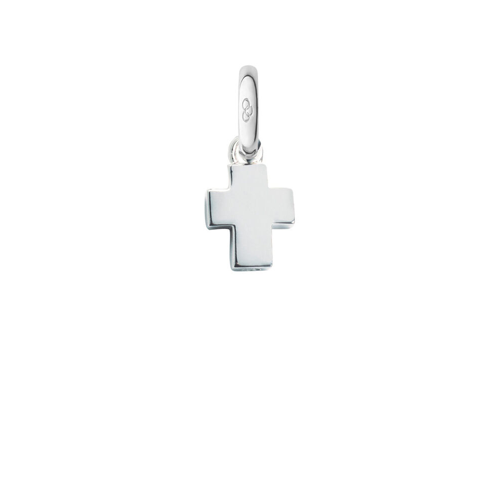 Sterling Silver Baby Cross Charm, , hires