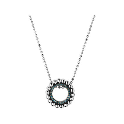 Effervescence Sterling Silver & Blue Diamond Necklace, , hires