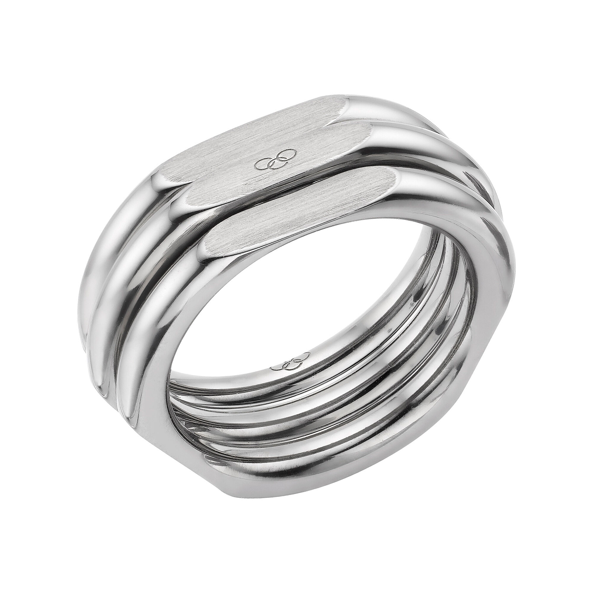 en functional london wedding ring of hires plated ruthenium links gb mens rings xl