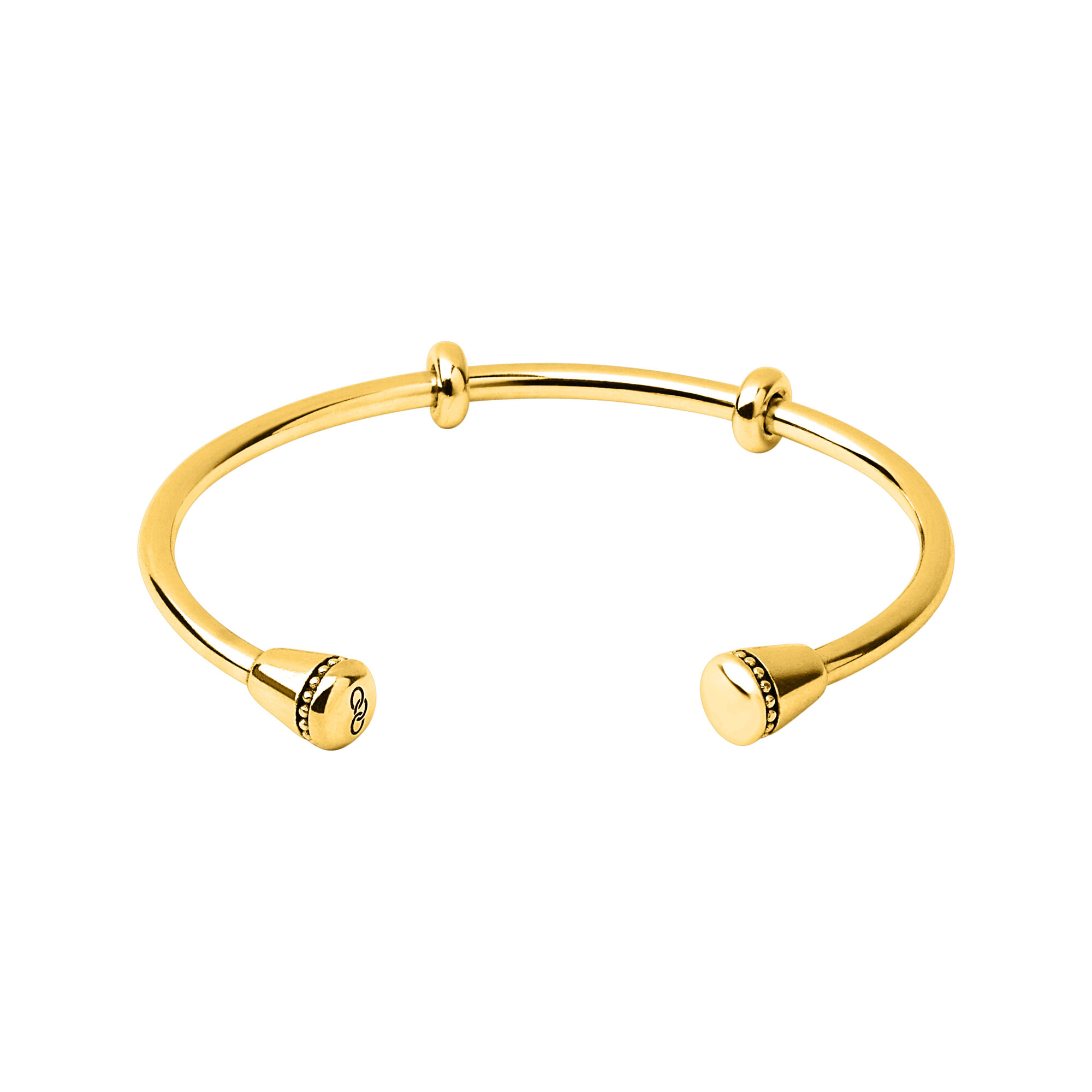Amulet Yellow Gold Charm Cuff