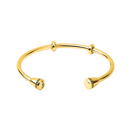 Amulet 18kt Yellow Gold Vermeil Charm Cuff, , hires