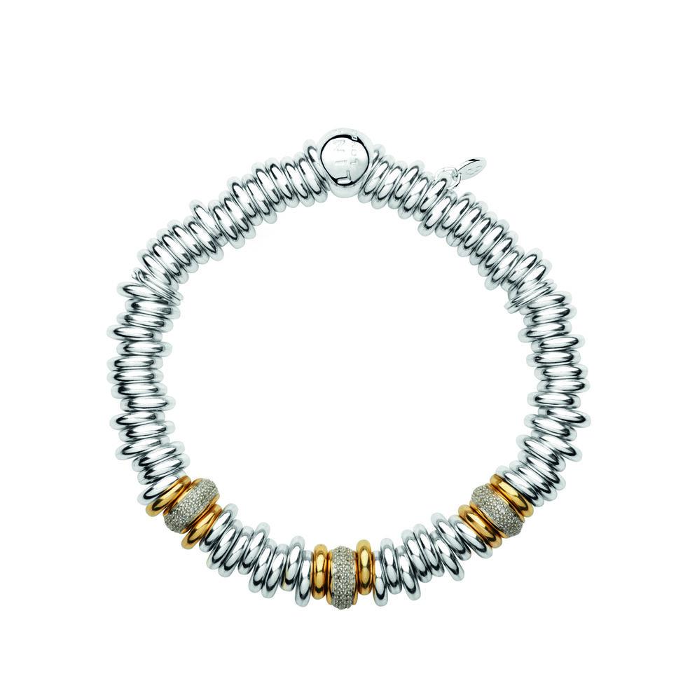 Sweetie 25 Years 18kt Gold & Diamond Bead Bracelet, , hires