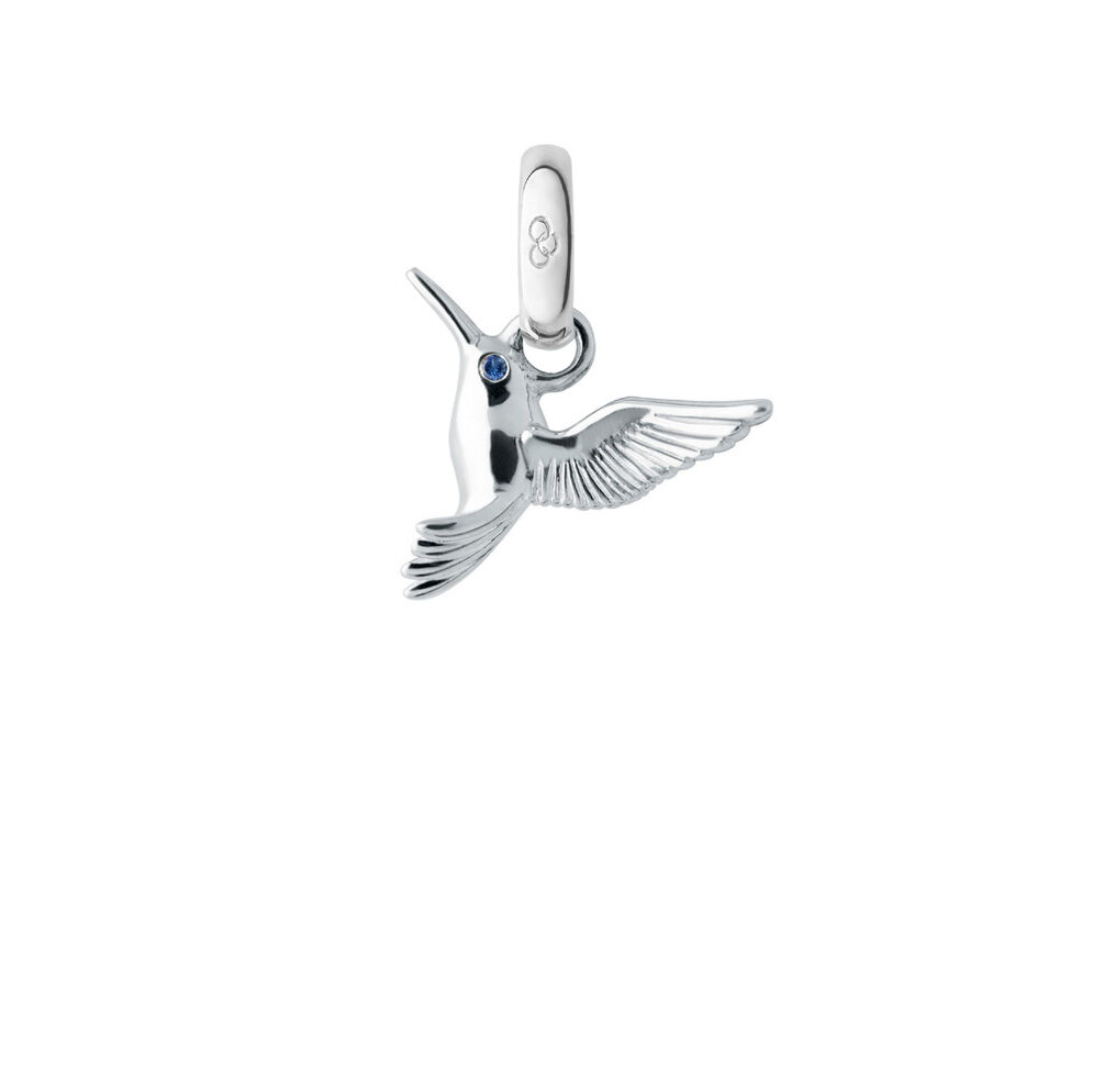 Sterling Silver Hummingbird Charm, , hires
