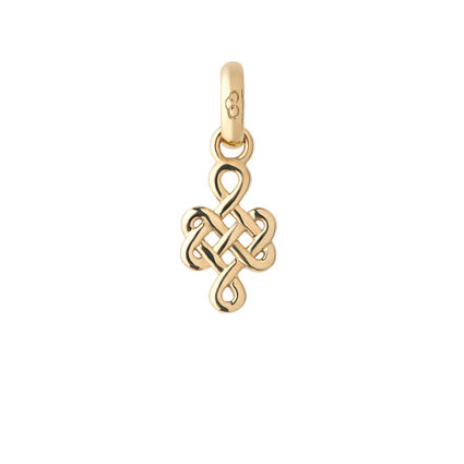 18kt Yellow Gold Infinity Knot Charm, , hires