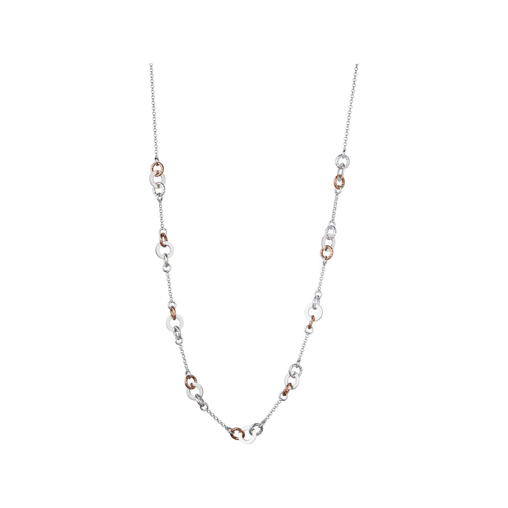 Aurora Sterling Silver 65cm Station Necklace, , hires