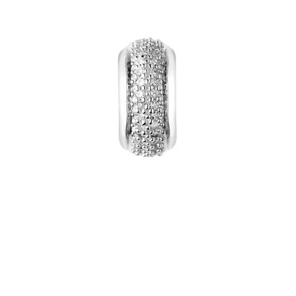 Sweetie Sterling Silver & White Diamond Pave Bead, , hires