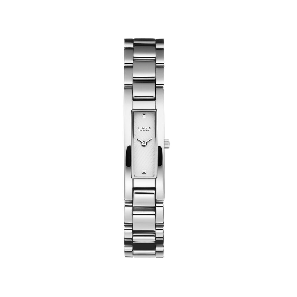 Selene Womens Stainless Steel White Dial Watch, , hires