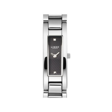 Selene Womens Stainless Steel Black Dial Watch, , hires