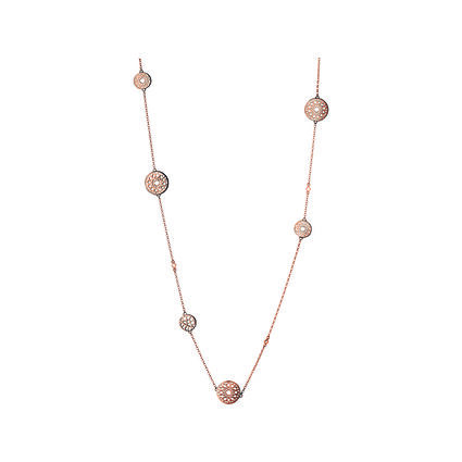 Timeless 18kt Rose Gold Vermeil Multi Station Necklace, , hires