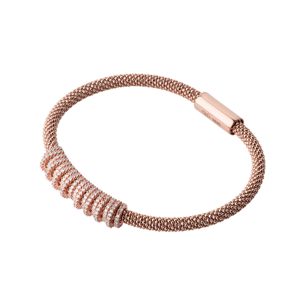 Star Dust Rose Gold Plate Crown Bracelet, , hires