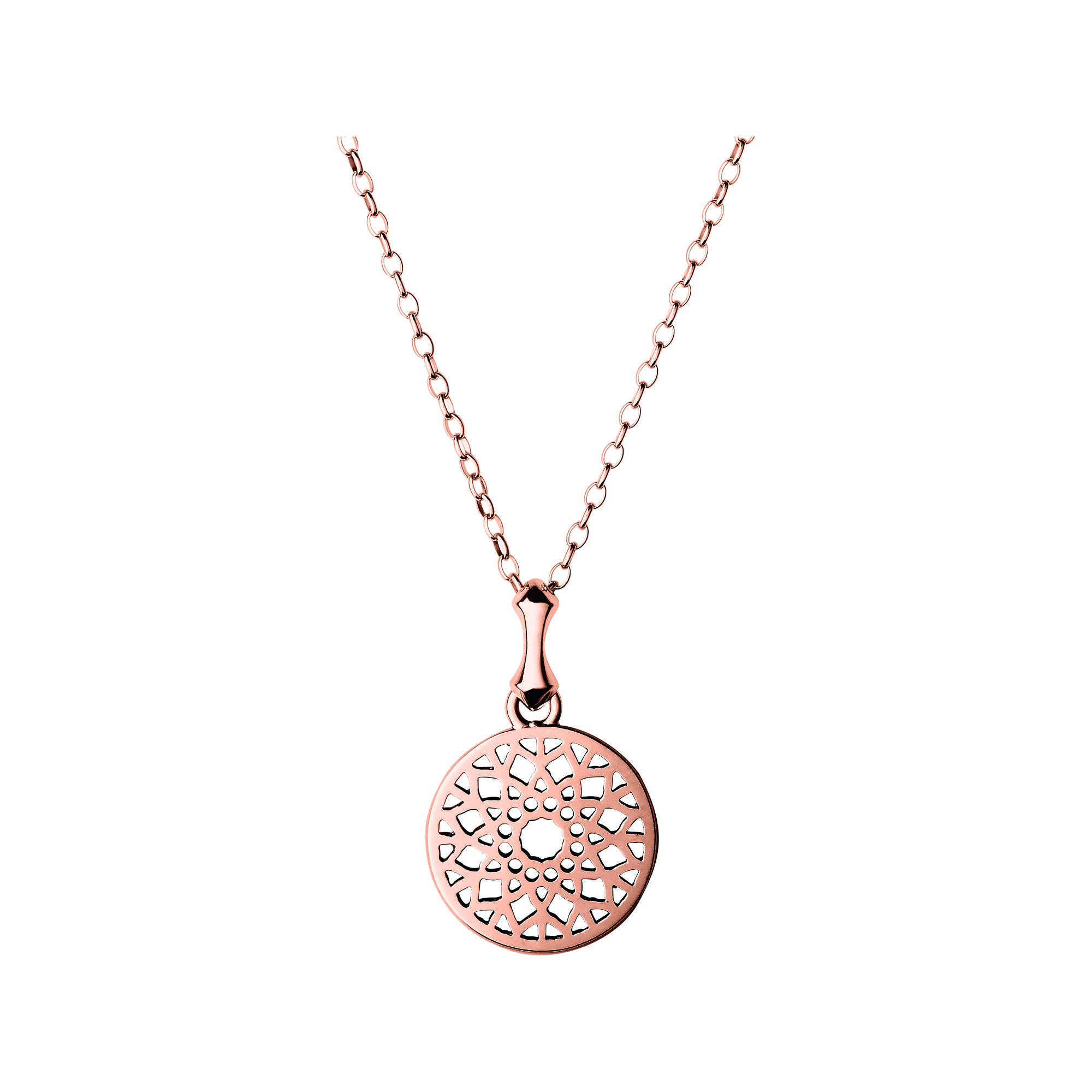 product gold necklace small plate round jewellery anma