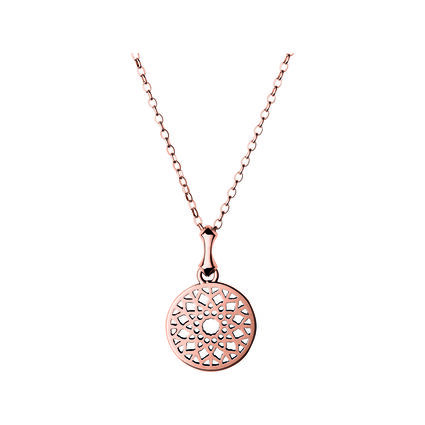 Timeless 18kt Rose Gold Vermeil Small Necklace, , hires