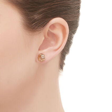 Thames 18K Rose Gold Vermeil Stud Earrings, , hires