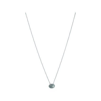 Concave Sterling Silver & Diamond Necklace, , hires