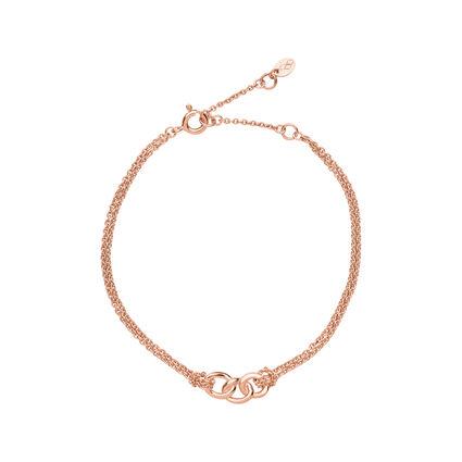Signature 18kt Rose Gold Vermeil Double Chain Bracelet, , hires