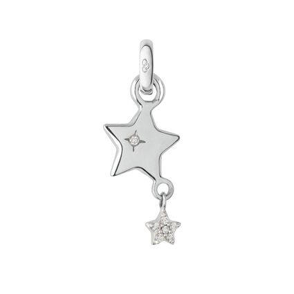 Wish Upon a Star 18K White Gold Charm, , hires