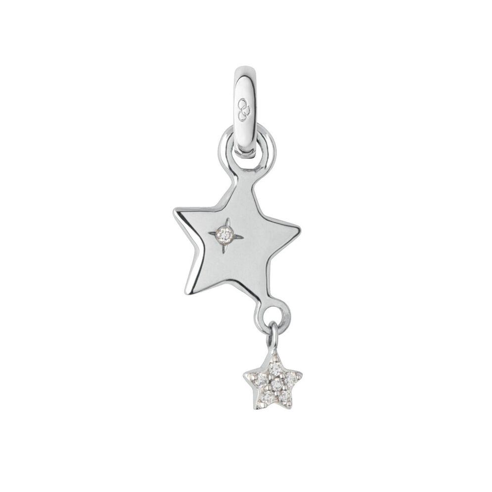 18kt White Gold Wish Upon a Star Charm, , hires