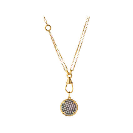 Pendant necklaces links of london ascot 18kt yellow gold vermeil amp black mother of pearl amulet charm necklace aloadofball Image collections