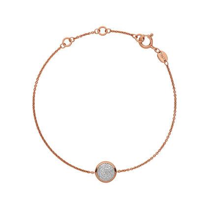 Diamond Essentials 18kt Rose Gold Vermeil & Pave Round Bracelet, , hires