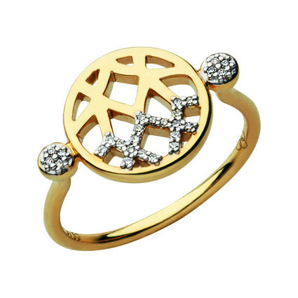 Timeless 18kt Gold & Diamond Ring, , hires