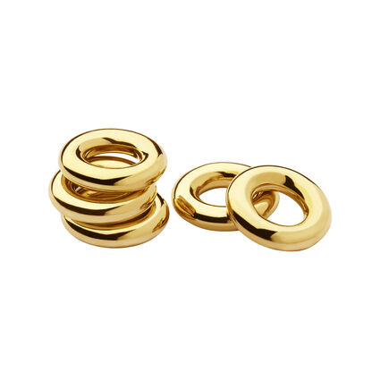 Bag of 5 18K Yellow Gold Vermeil Sweetie Rings, , hires