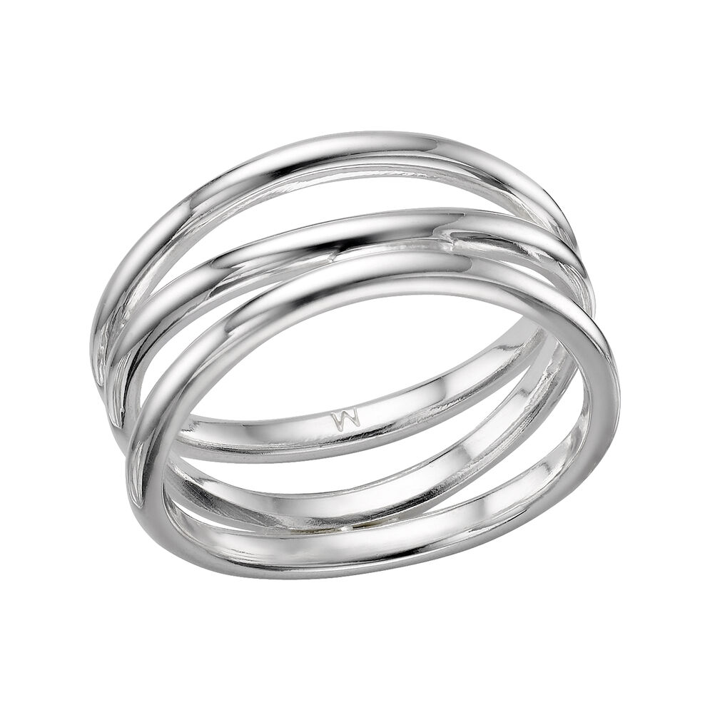 Essentials Sterling Silver Infinite Triple Fix Ring, , hires