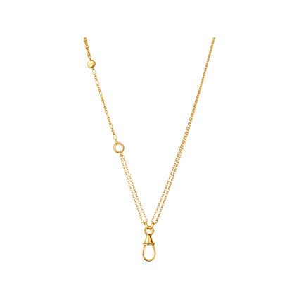 Amulet 18kt Yellow Gold Vermeil Carabiner Necklace, , hires