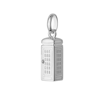 Sterling Silver London Phone Box Charm, , hires