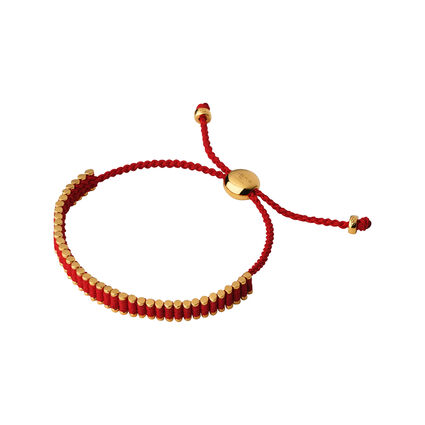 18kt Rose Gold & Ruby Red Mini Friendship Bracelet, , hires