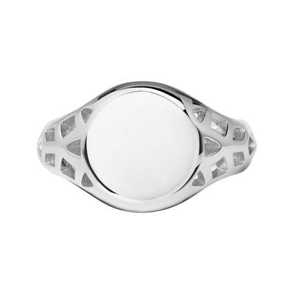 Timeless Sterling Silver Signet Ring, , hires