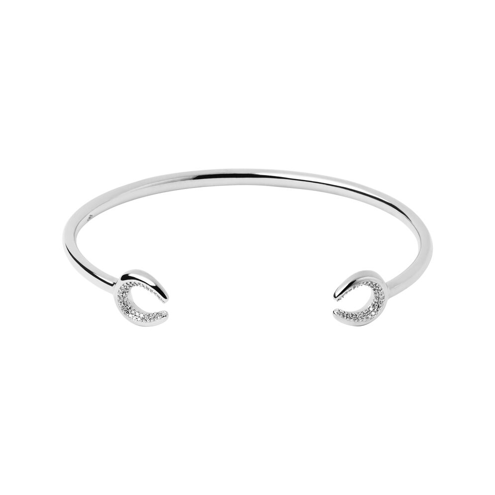 Ascot Diamond Essentials Sterling Silver Horseshoe Cuff, , hires