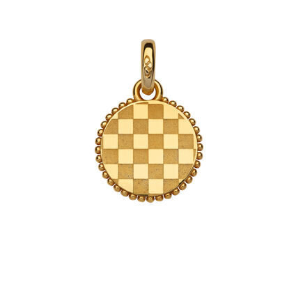 Ascot Yellpw Gold Vermeil Quarter Pattern Charm, , hires