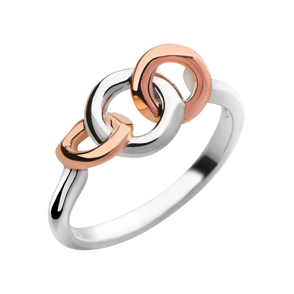 20/20 Sterling Silver & 18kt Rose Gold Ring, , hires