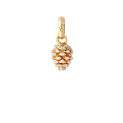 18kt Yellow Gold & Diamond Pinecone Charm, , hires