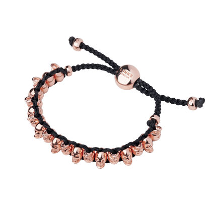 Rose Gold Vermeil Skull Friendship Bracelet, , hires