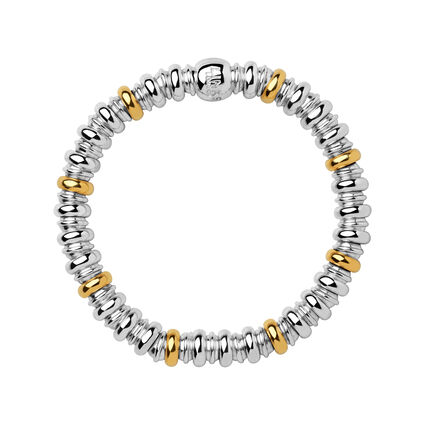 Sweetheart Sterling Silver & 18kt Yellow Gold Vermeil Bracelet, , hires
