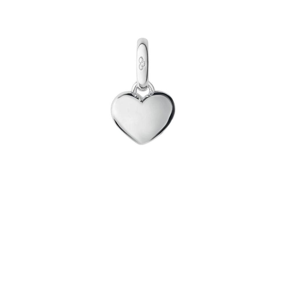 Keepsakes Sterling Silver Mini Slim Heart Charm, , hires