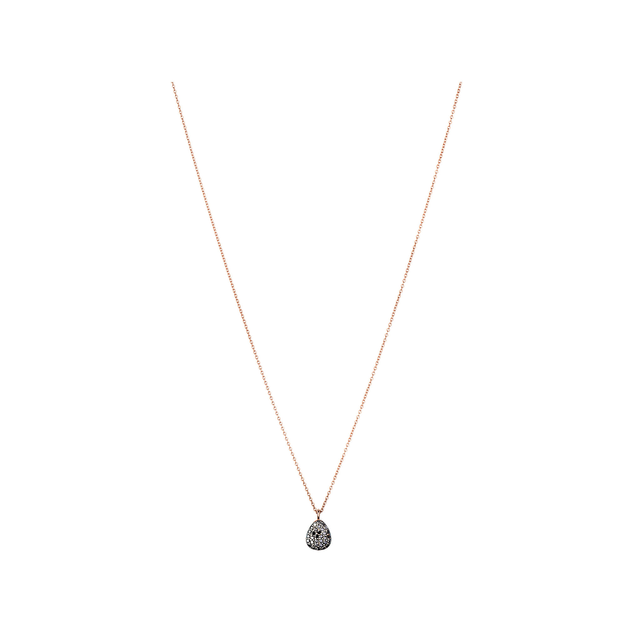 Hope Rose Gold Black Diamond Necklace Links of London