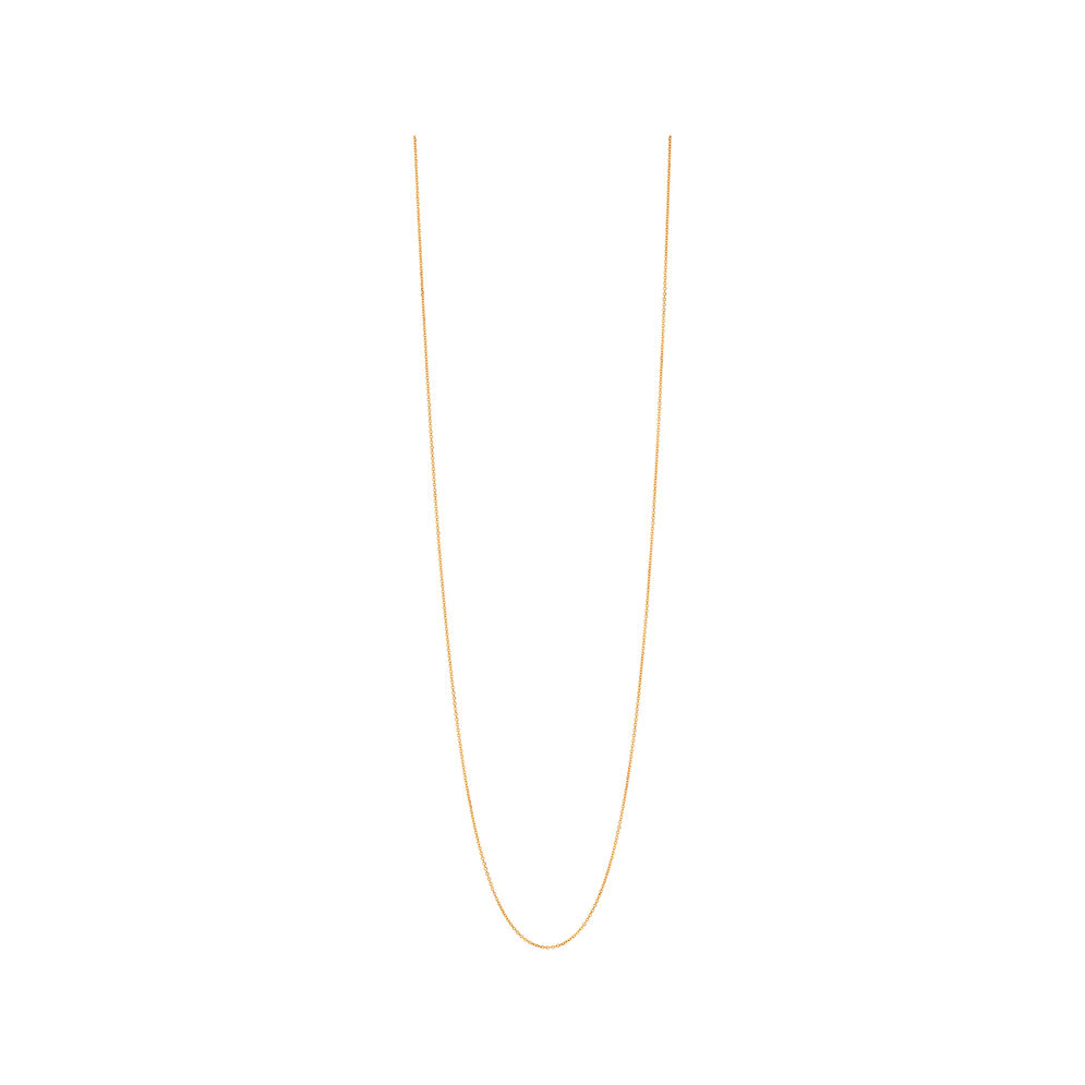 Essentials Yellow Gold Vermeil 1.2mm Cable Chain 80cm, , hires