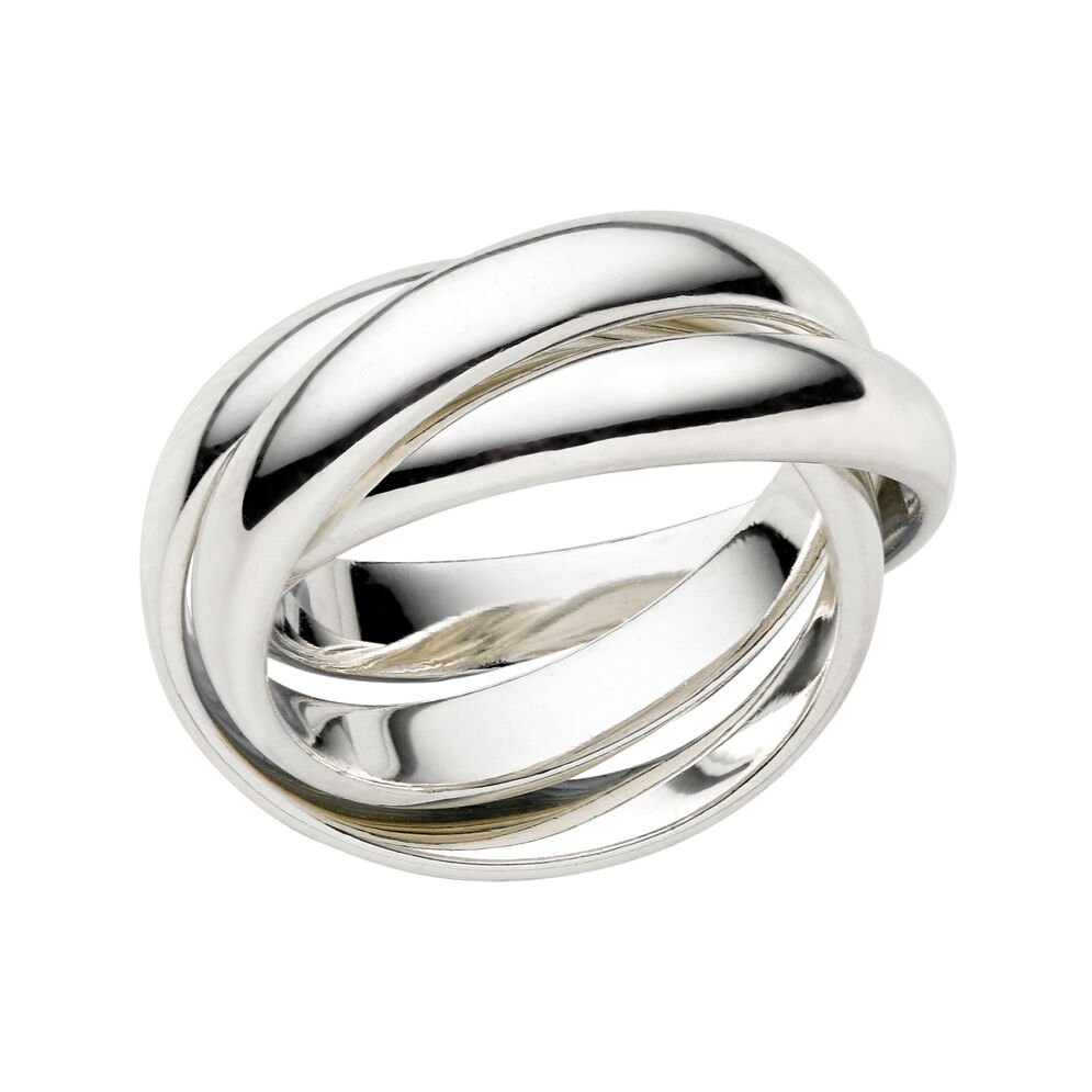 Essentials Sterling Silver Triple Ring, , hires